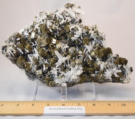 Quartz Crystals on Pyrite